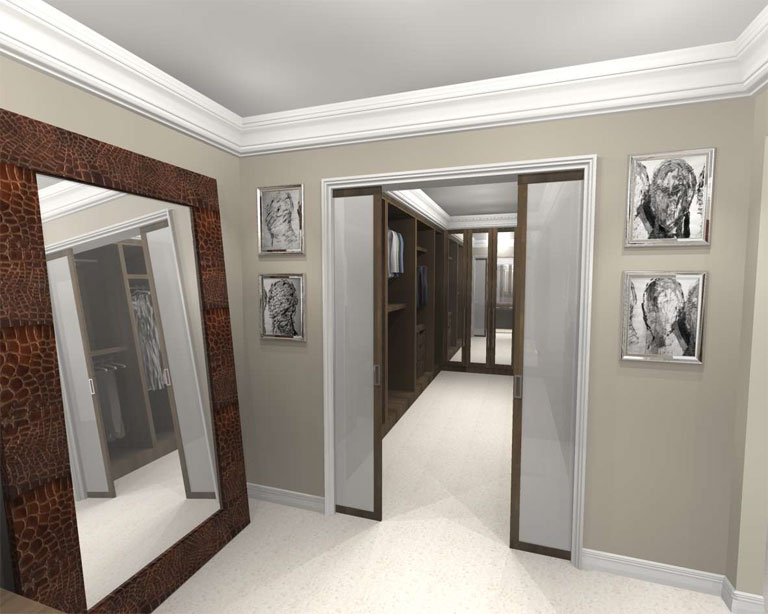 Bespoke wardrobe design concept design for Master bedroom with ensuite and walk in wardrobe