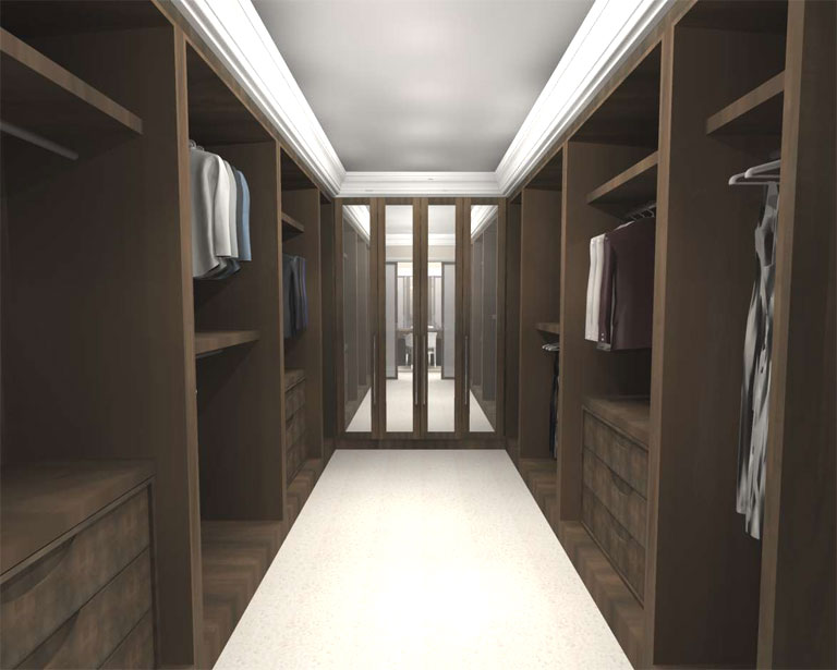 Luxury bedroom design concept design Master bedroom ensuite and wardrobe
