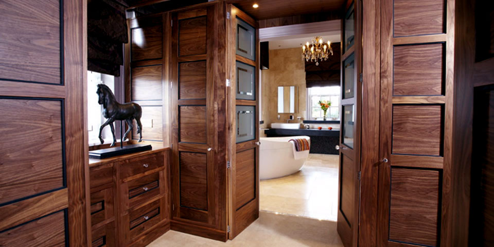 hotel style bathroom and bedroom design