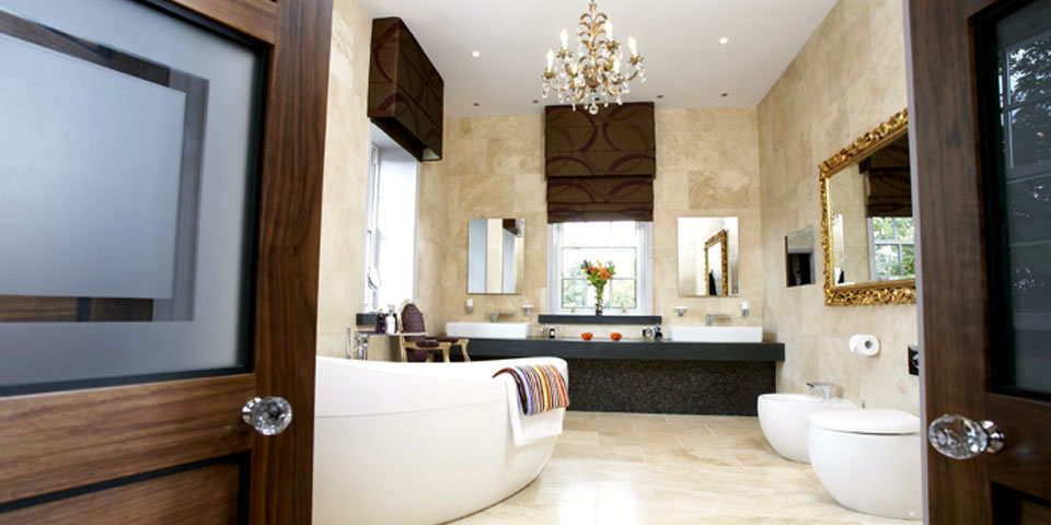 Hotel Style Bedroom And Bathroom Interior Design Ideas