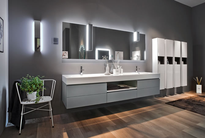 artlinea glass finish vanity units concept design. Black Bedroom Furniture Sets. Home Design Ideas