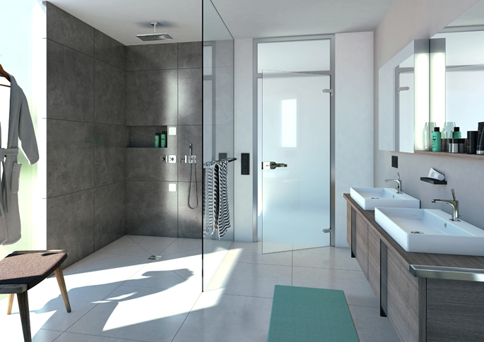 wet room showers Concept Design
