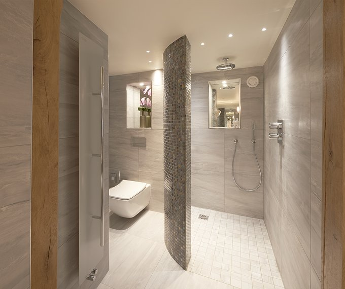 Luxury showers concept design for Design boutique hotel tirol