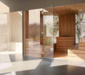 Steam room and sauna with built in frame