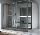 Steam room with a shower space
