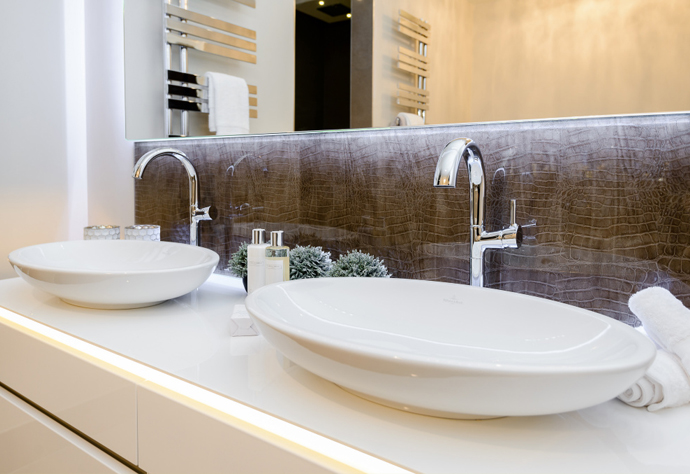 Contemporary Vanity Units & Vanity Splashbacks