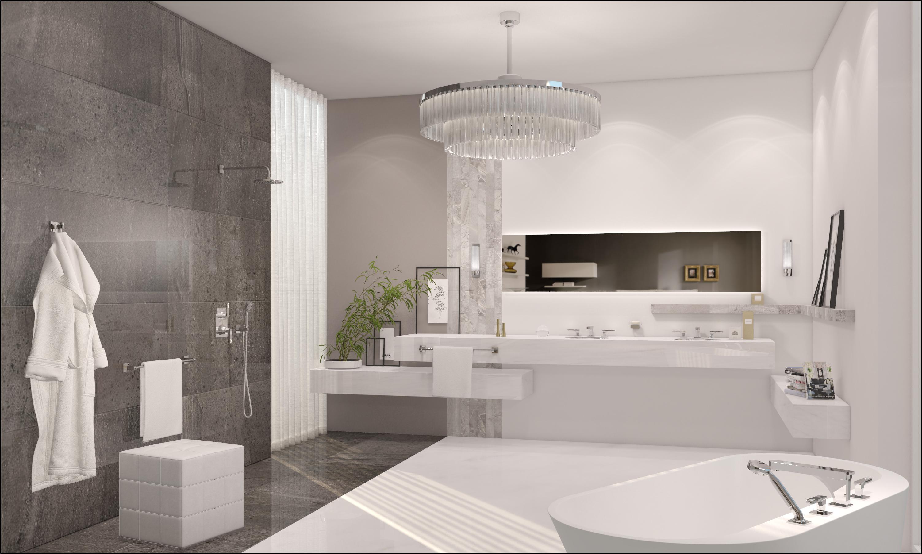 Luxury bathrooms concept design for Latest bathroom designs