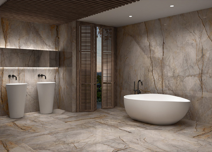Creative Bathroom Tile Finishes Concept Design