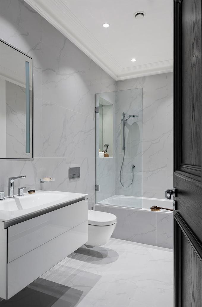 Subtle White Grey Bathrooms Concept Design